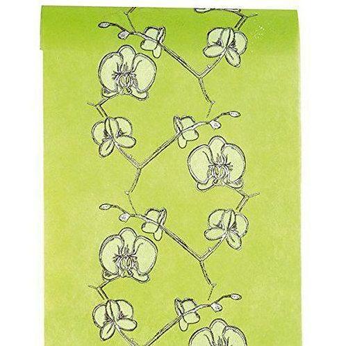 Chemin de Table 5mx30 cm - Orchidée Vert