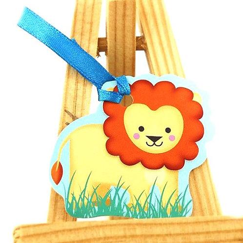 Etiquettes Animaux x12 - Lion