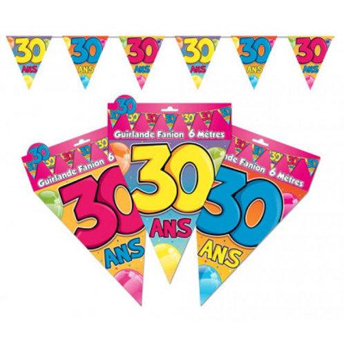 Fanions Multicolores - 30 Ans