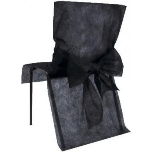 Housses de Chaises x10 - Noir