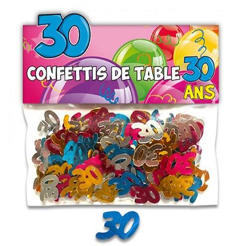 Confettis de Table Multicolore - 30 ans
