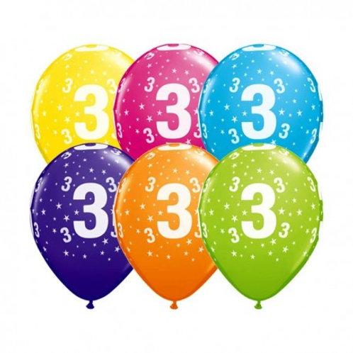 Ballons Latex x6 - 3 ans