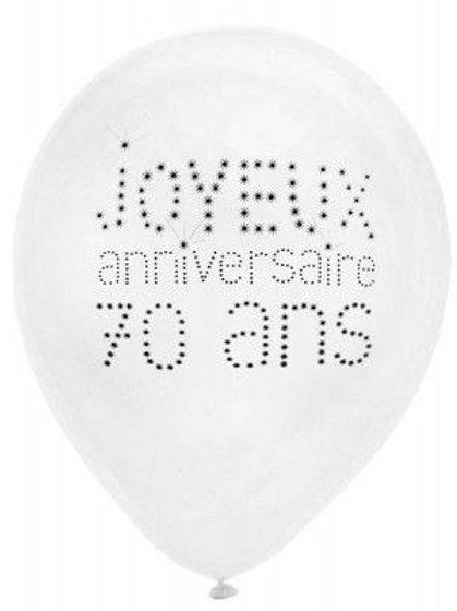 Ballons Latex x8 - 70 Ans