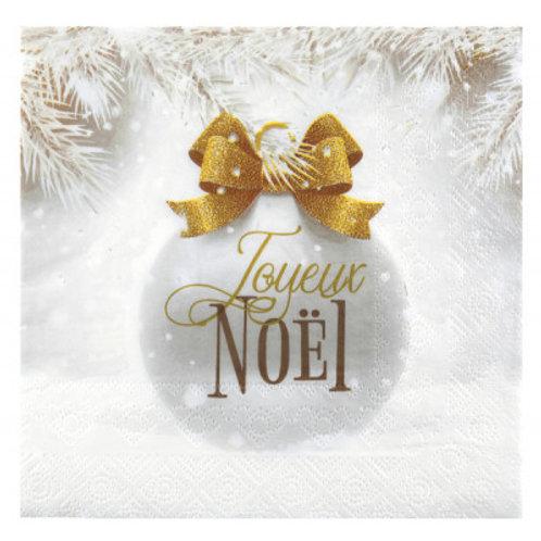 Serviettes Boule de Noël Or