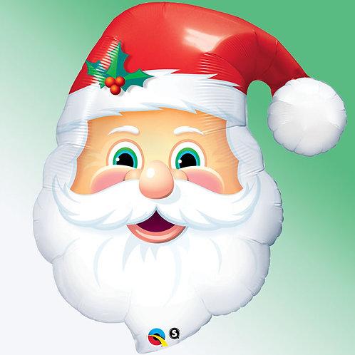 ballon alu tete de Père Noël