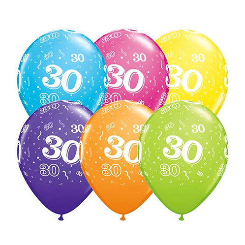 Ballons Latex x6 - 30 ans