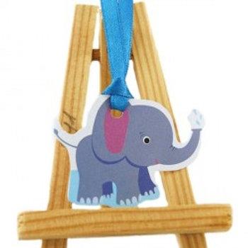 Etiquettes Animaux x12 - Eléphant