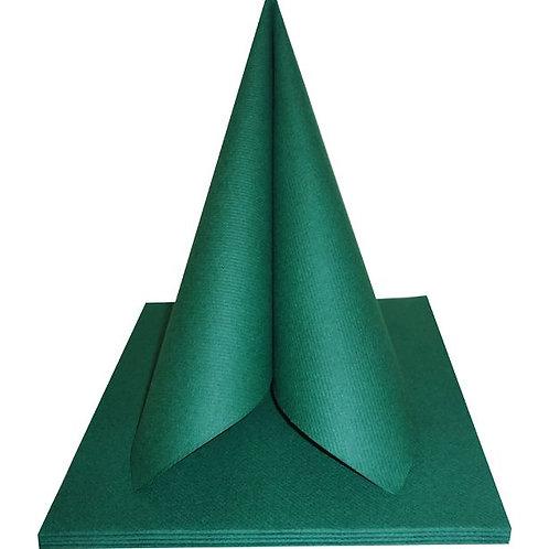 Serviettes Intissées x25 - Vert Sapin