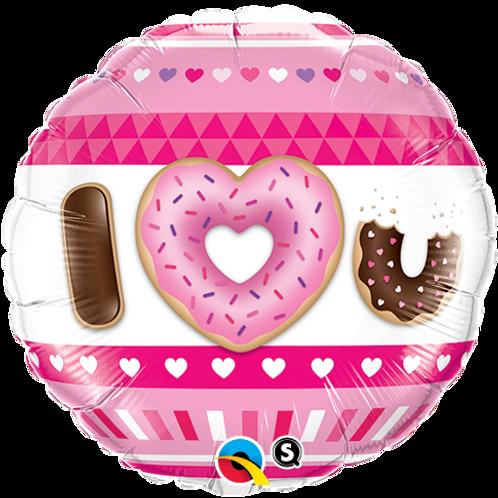 Ballon alu I Love You Donuts