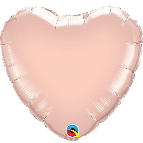 "Ballon alu Coeur ""Rose Gold"""