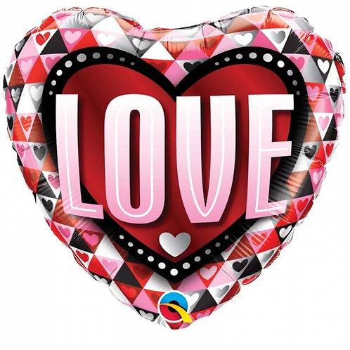 "Ballon alu Coeur""LOVE"" rose"