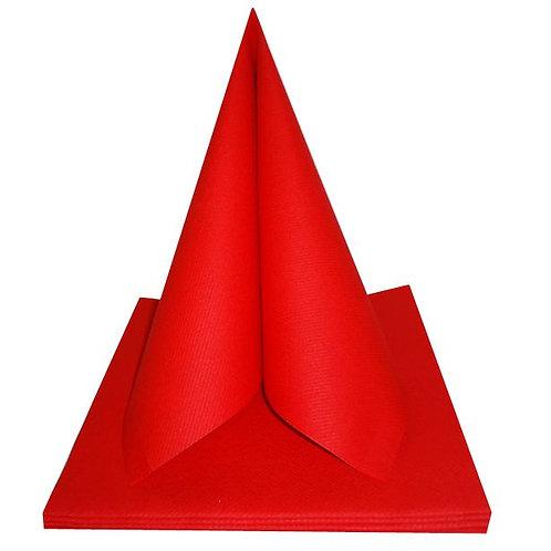 Serviettes Intissées x25 - Rouge