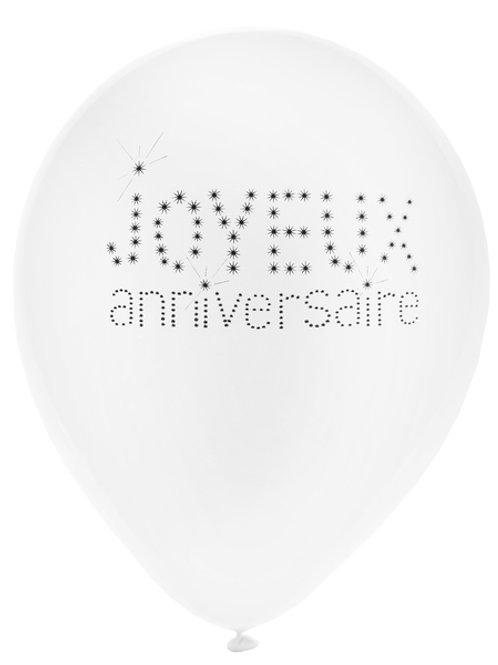 Ballons Latex x8 - Joyeux Anniversaire