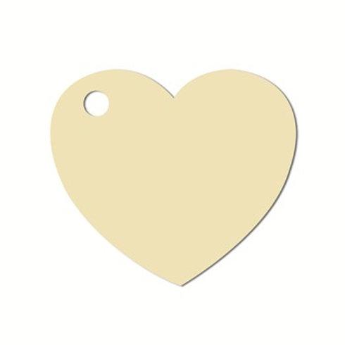 Etiquettes Coeur x50 - Ivoire / Crème