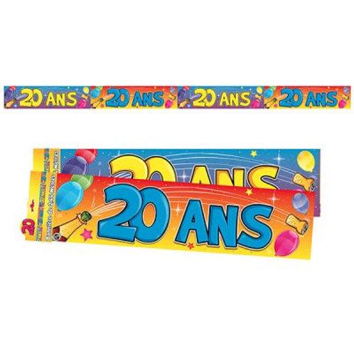 Bannière Multicolore - 20 ans