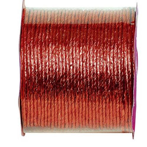 Bobine de fil Laitonné Métallisé - 20m - Rouge