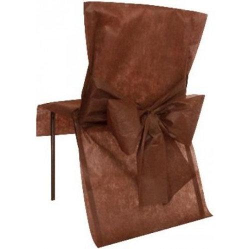 Housses de Chaises x10 - Chocolat