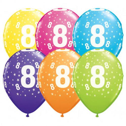 Ballons Latex x6 - 8 ans