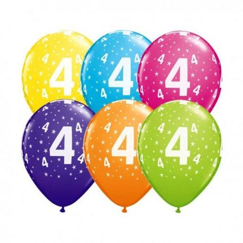 Ballons Latex x6 - 4 ans