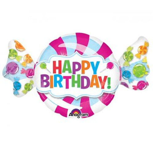 Ballon alu Bonbon Happy Birthday