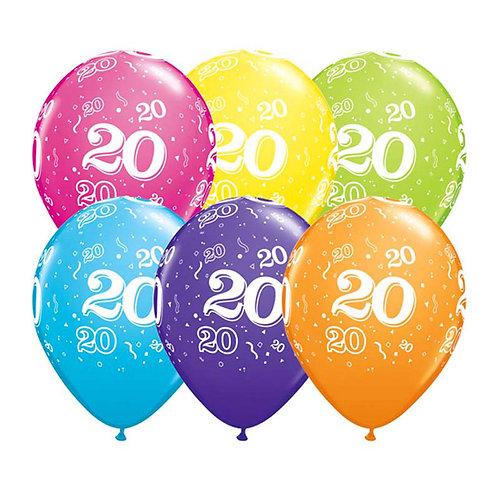 Ballons Latex x6 - 20 ans