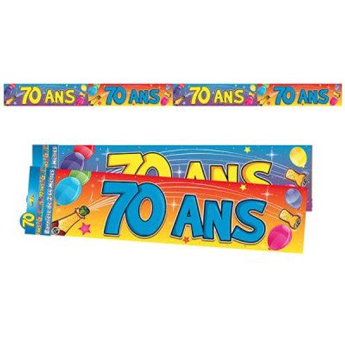Bannière Multicolore - 70 ans