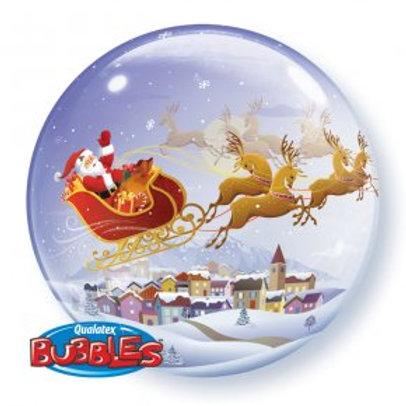 Ballon Bubble Traineau du Père Noël