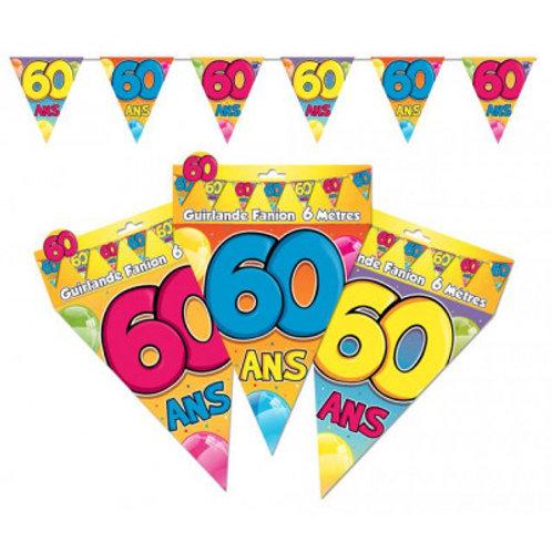 Fanions Multicolores - 60 Ans