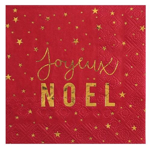 """Serviettes de Noël """"Rouge & Or"""""""
