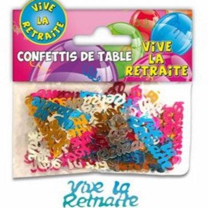 Confettis de Table Multicolore - Retraite