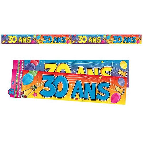 Bannière Multicolore - 30 ans