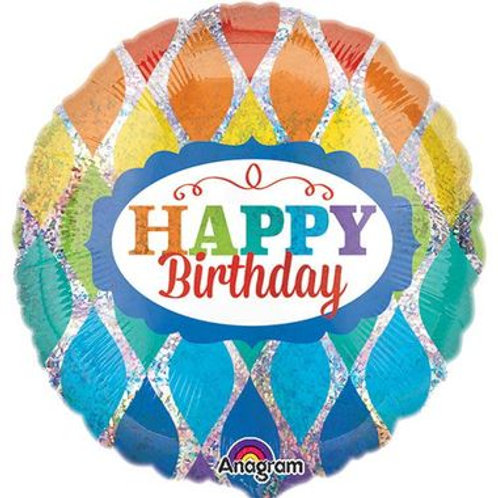 Ballon alu Happy Birthday