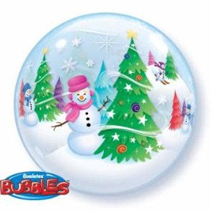 Ballon bubble Bonhomme De Neige