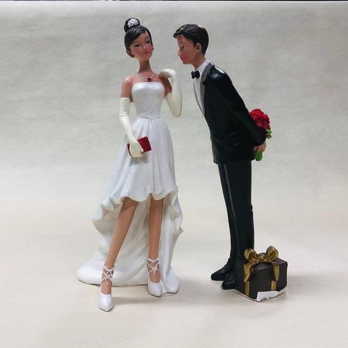 """Couple de Mariés """"Bouquet de roses"""""""