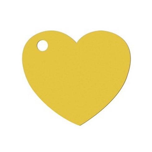 Etiquettes Coeur x50 - Jaune