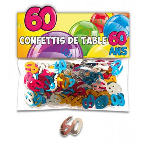 Confettis de Table Multicolore - 60 ans