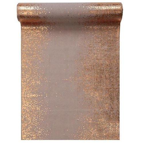 Chemin de Table 5mx30 cm - Eclat Métallisé Rose Gold