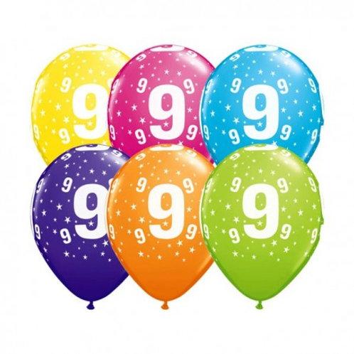 Ballons Latex x6 - 9 ans