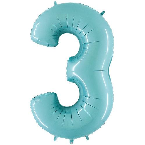 Ballon Alu Bleu Pastel (PM)3