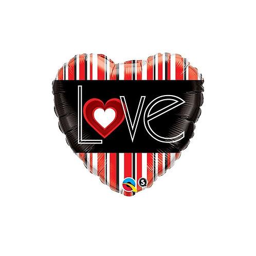 """Ballon alu Coeur ruban""""LOVE"""""""