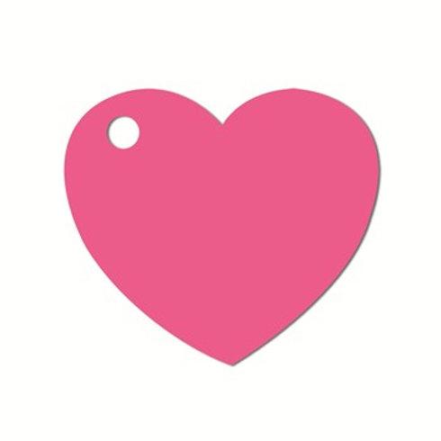 Etiquettes Coeur x50 - Rose Fushia