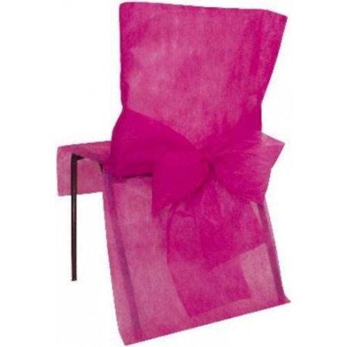 Housses de Chaises x10 - Fushia