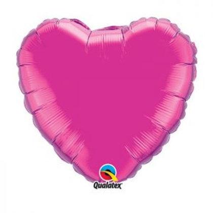 """Ballon alu Coeur """"Magenta"""""""