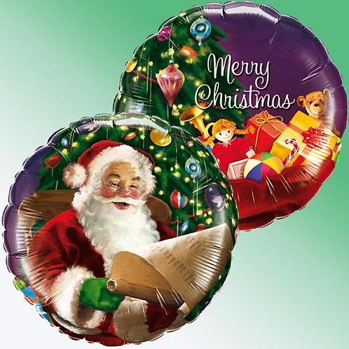 Ballon alu Père Noël