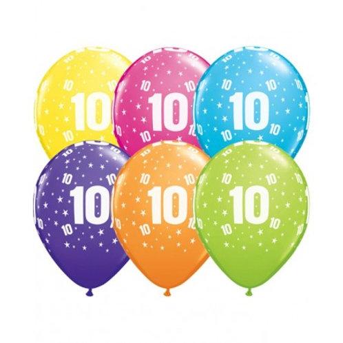 Ballons Latex x6 - 10 ans