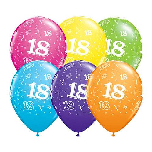 Ballons Latex x6 - 18 ans