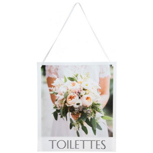 Pancarte Wedding Chic - Toilette