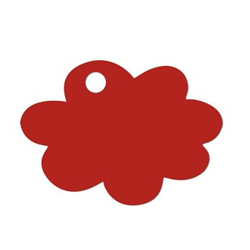 Etiquettes Nuage x50 - Rouge