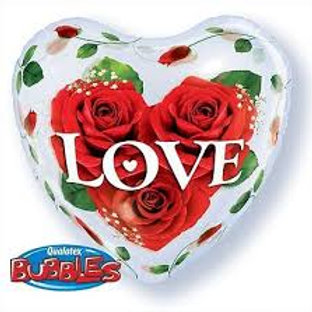 Ballon Bubble Rose Love