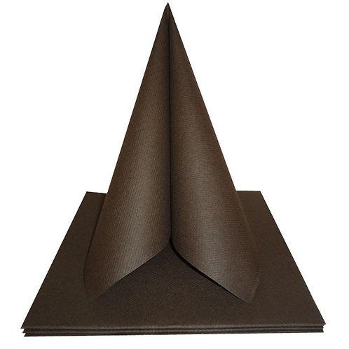 Serviettes Intissées x50 - Chocolat